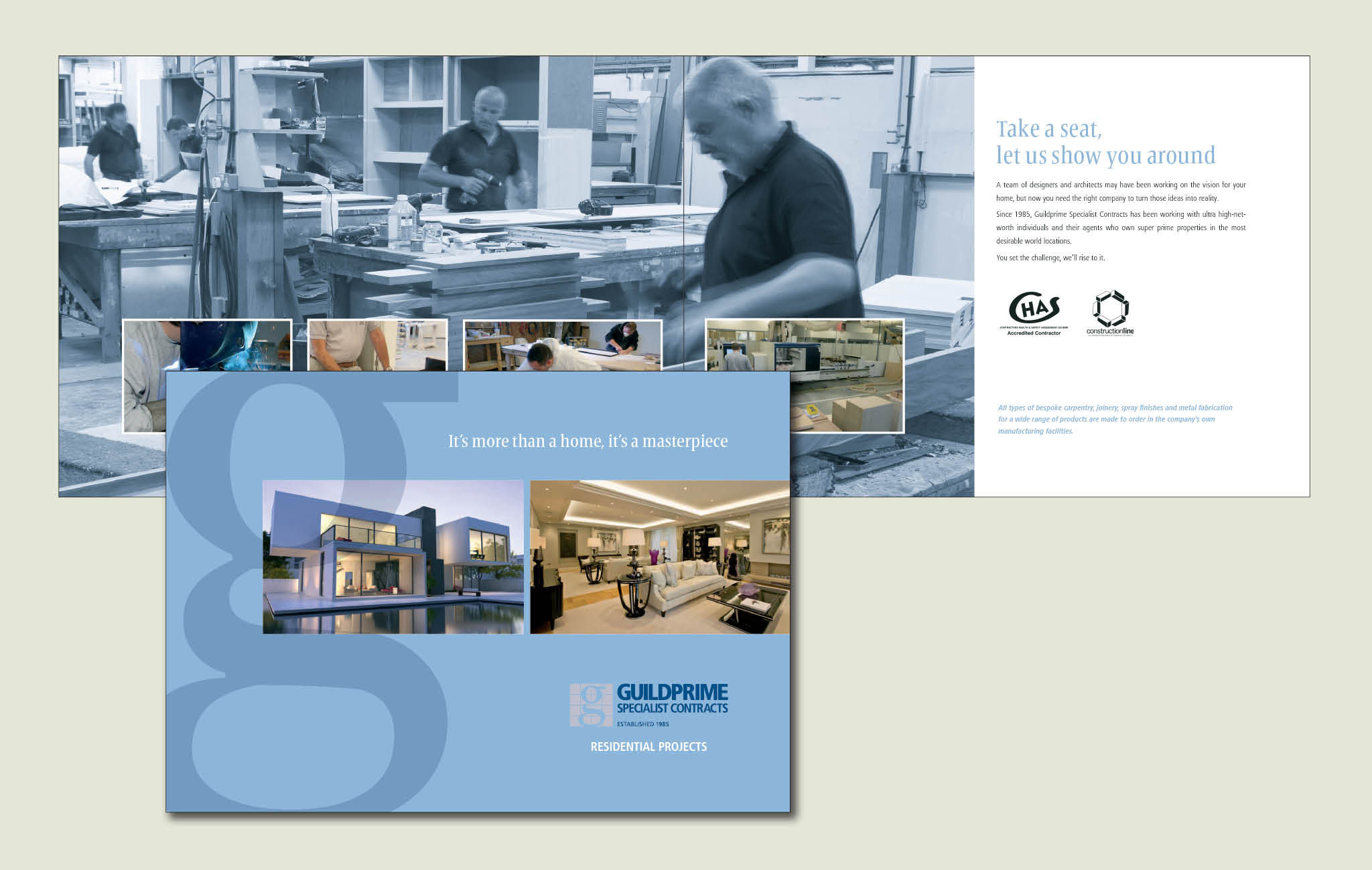 Corporate brochure design for Guildprime Specialist Contracts