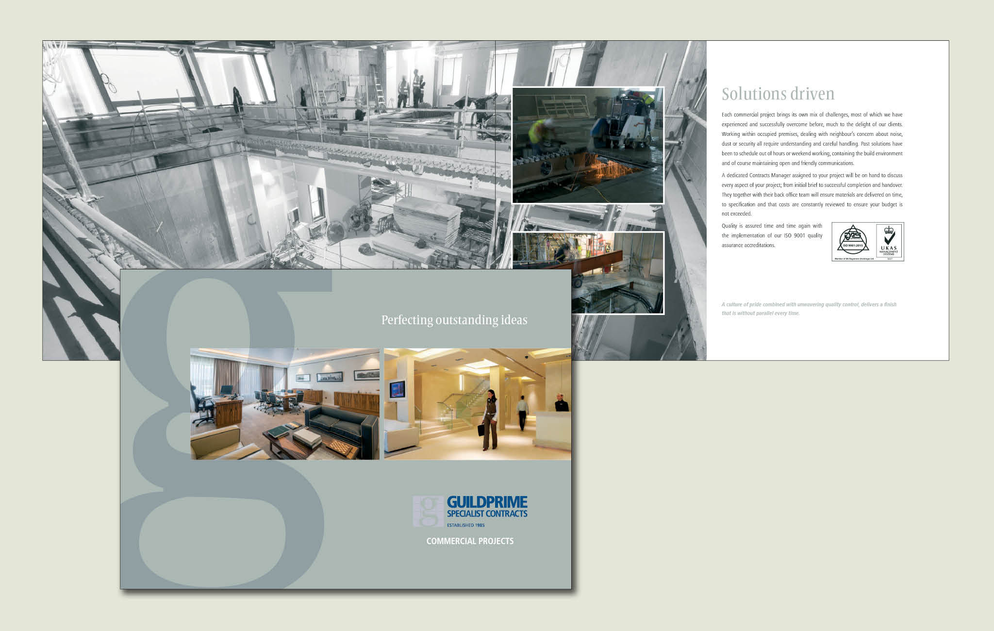 Brochure design for Commercial fit-out contrator