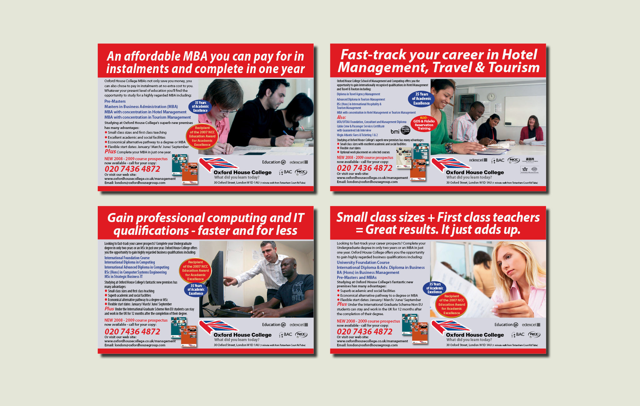 Direct Response Advertisng for College Courses