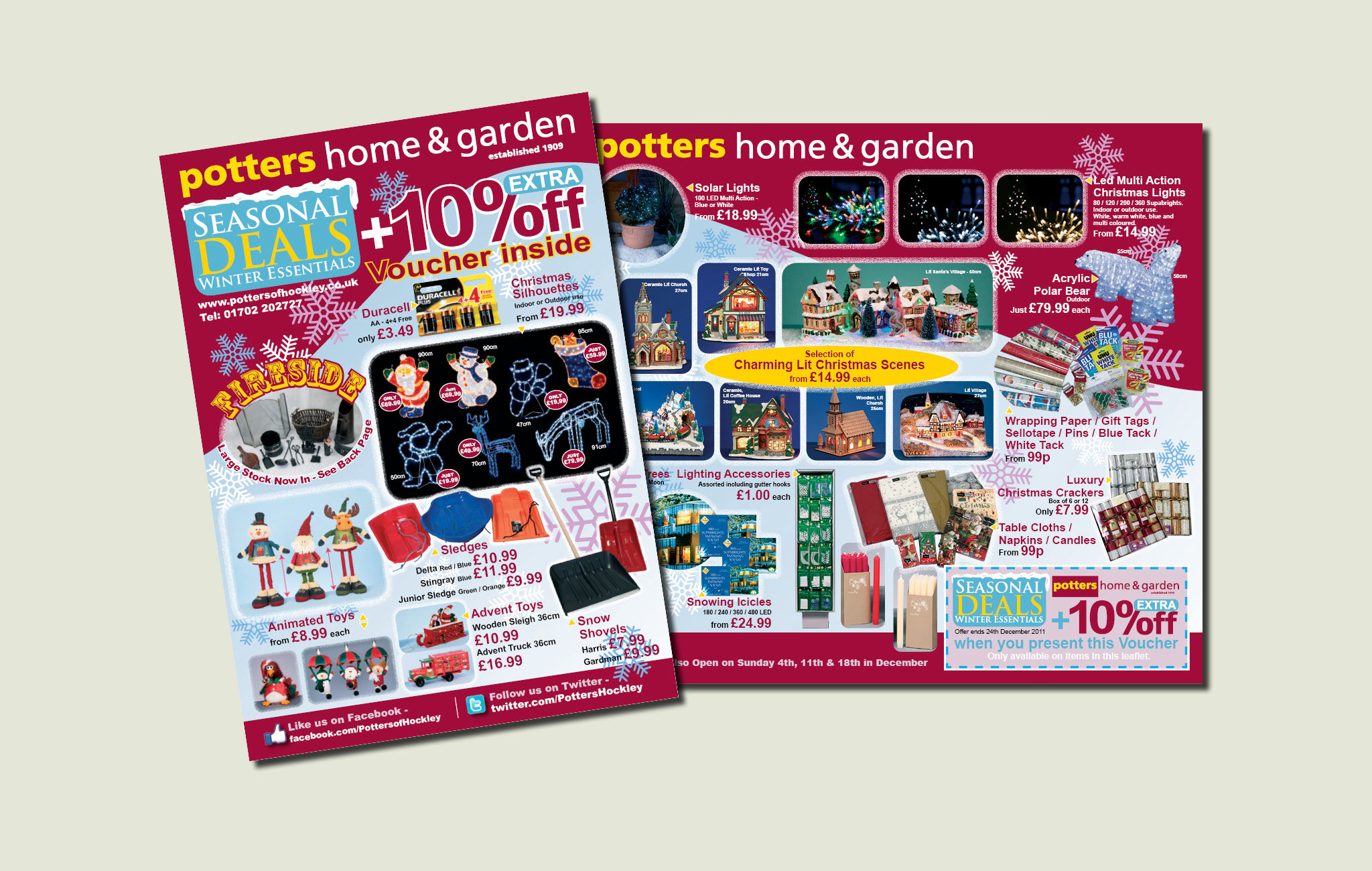 Potter's letterbox marketing brochure
