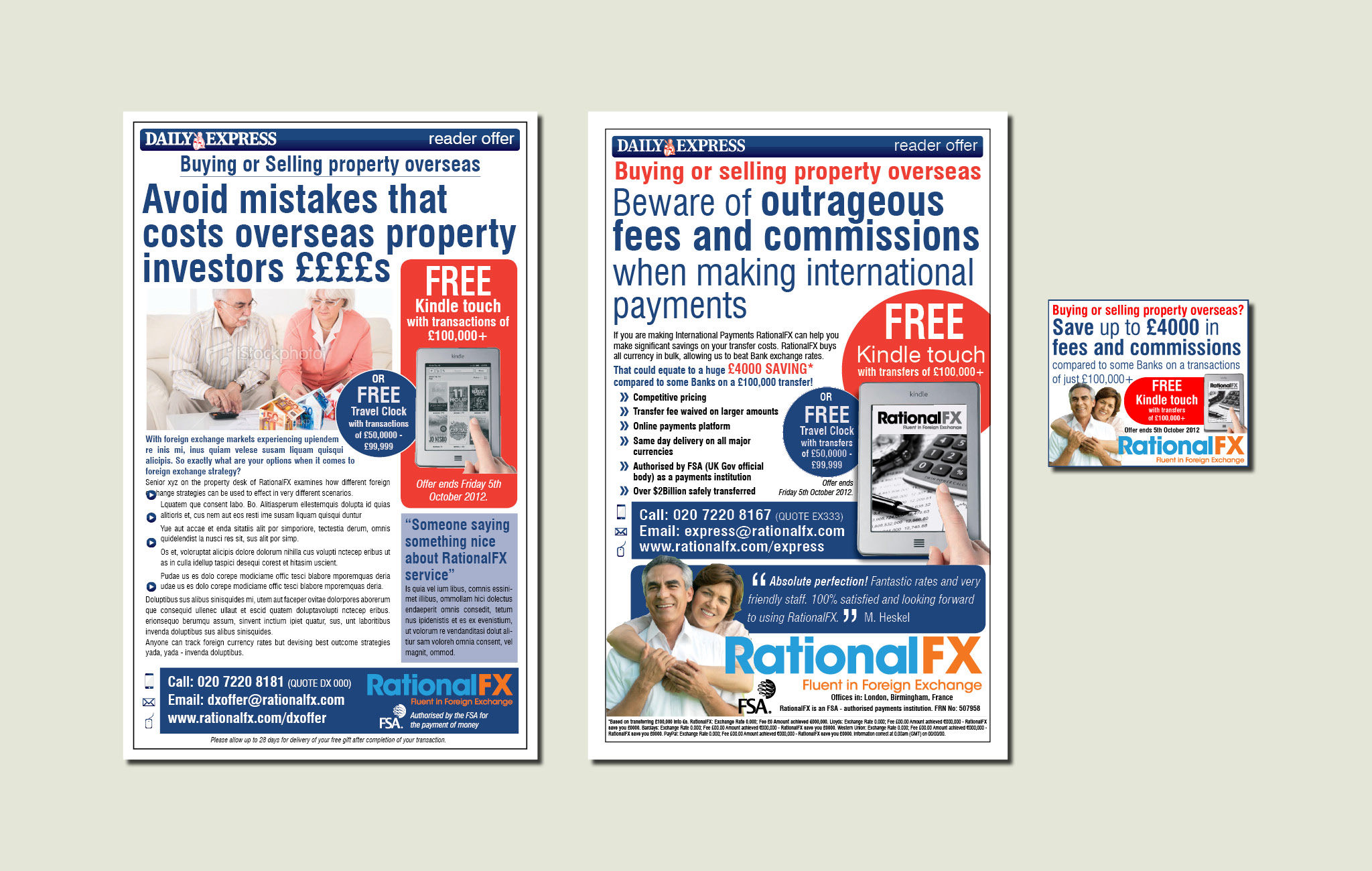 Daily Express Readers Offer Ad